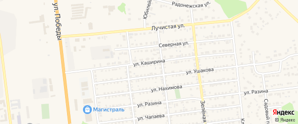 Улица Каширина на карте Южноуральска с номерами домов
