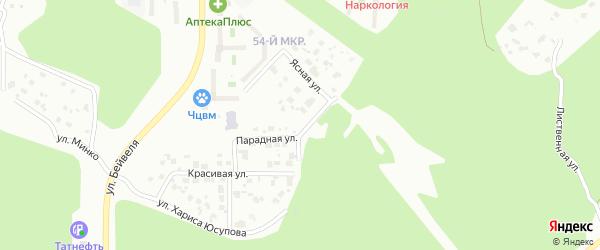 Улица Хариса Юсупова на карте Челябинска с номерами домов