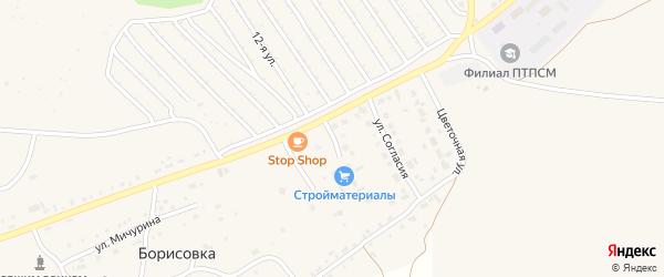 Сиреневый переулок на карте Еманжелинска с номерами домов