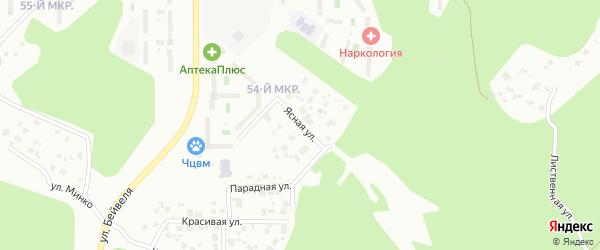 Ясная улица на карте Челябинска с номерами домов