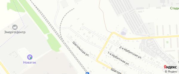 Переулок Аптечный(Шагол) на карте Челябинска с номерами домов