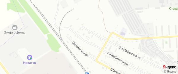 Аптечный переулок на карте Челябинска с номерами домов