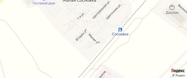 Малая улица на карте поселка Малой Сосновки с номерами домов