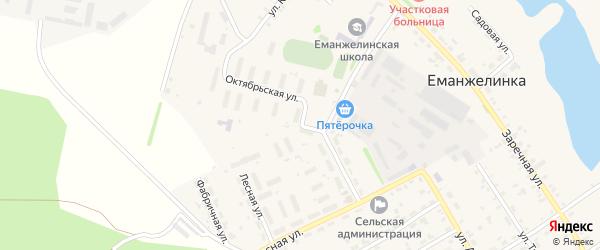 Октябрьская улица на карте села Еманжелинки с номерами домов