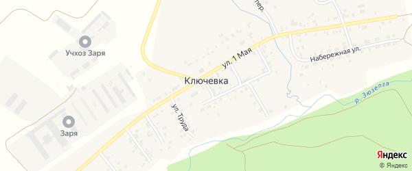 Улица Солнечная Поляна на карте деревни Ключевки с номерами домов