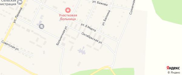 Октябрьская улица на карте Берегового поселка с номерами домов