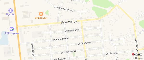 Северная улица на карте Южноуральска с номерами домов