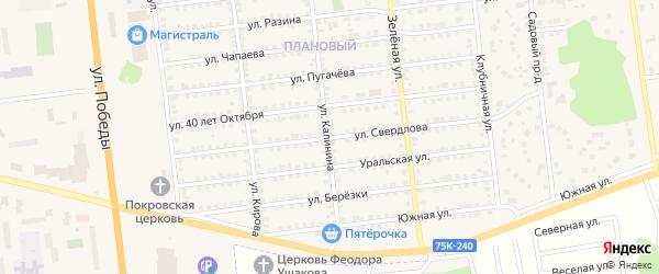Улица Свердлова на карте Южноуральска с номерами домов
