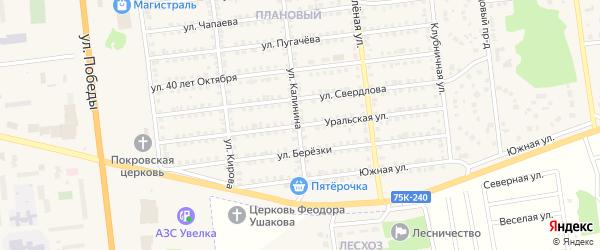Уральская улица на карте Южноуральска с номерами домов