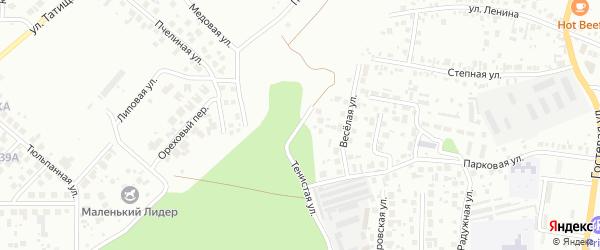Тенистая улица на карте Челябинска с номерами домов
