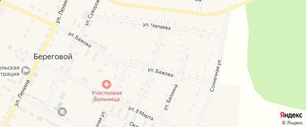 Улица Аблямова на карте Берегового поселка с номерами домов