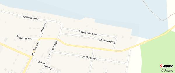 Улица Блюхера на карте Берегового поселка с номерами домов