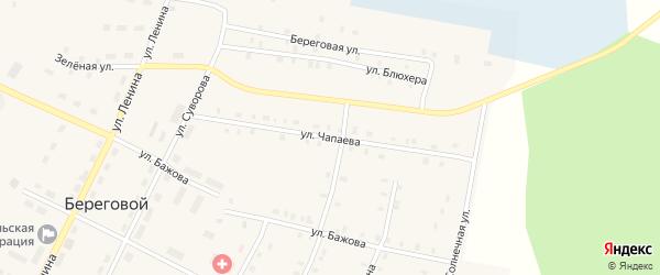 Улица Чапаева на карте Берегового поселка с номерами домов