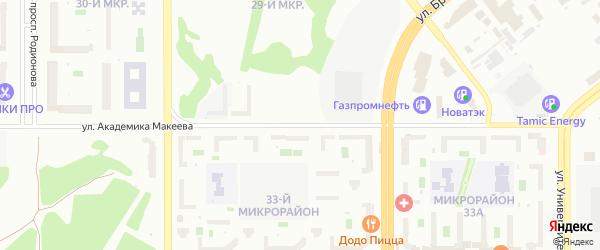 Улица Академика Макеева на карте Челябинска с номерами домов