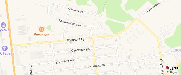 Лучистая улица на карте Южноуральска с номерами домов