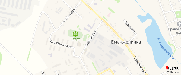 Школьная улица на карте станции Таянды с номерами домов