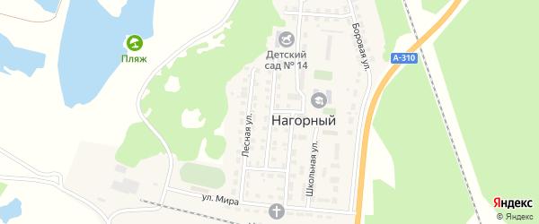 Садовая улица на карте Нагорного поселка с номерами домов
