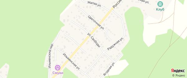 Улица Свободы на карте поселка Рощино с номерами домов