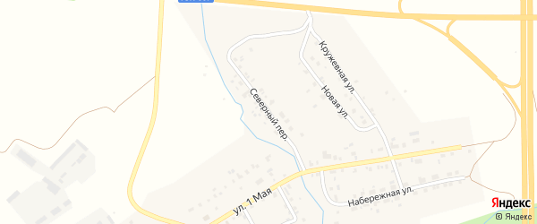 Северный переулок на карте деревни Ключевки с номерами домов