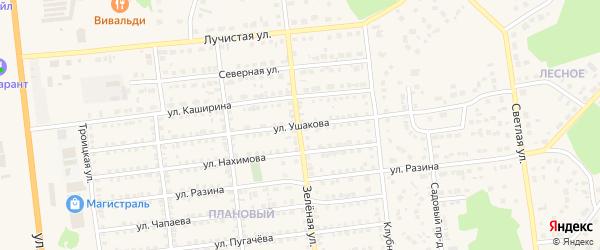 Улица Ушакова на карте Южноуральска с номерами домов