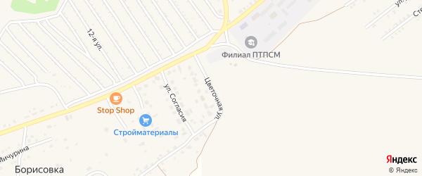 Цветочная улица на карте Еманжелинска с номерами домов