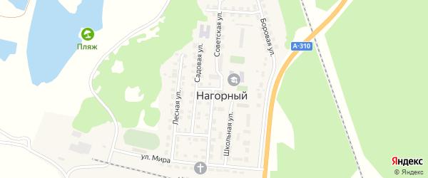 Советская улица на карте Нагорного поселка с номерами домов