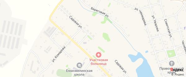 Садовая улица на карте села Еманжелинки с номерами домов