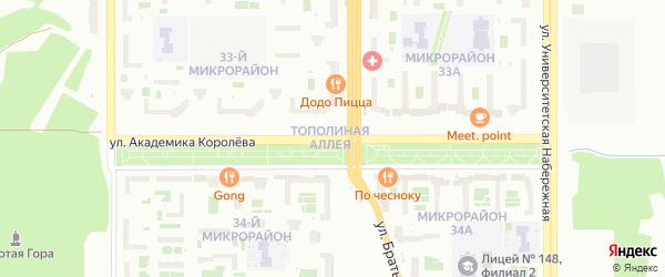 Улица Академика Королева на карте Челябинска с номерами домов