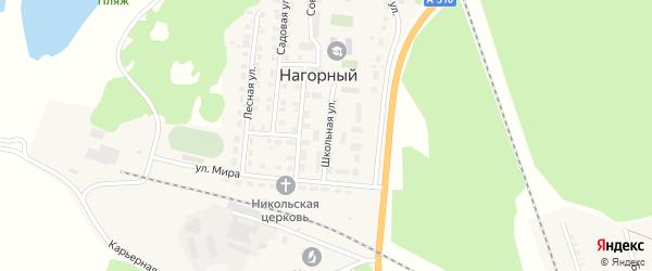 Школьная улица на карте Нагорного поселка с номерами домов