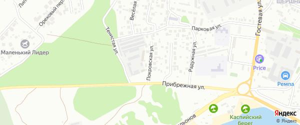 Покровская улица на карте Челябинска с номерами домов