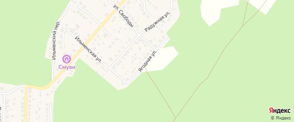 Ягодная улица на карте поселка Рощино с номерами домов