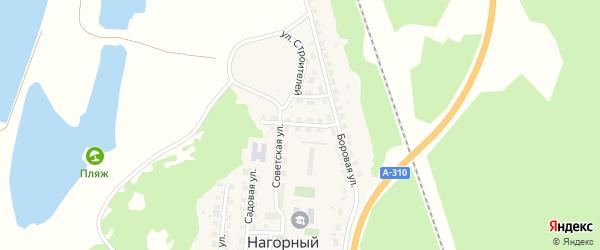 Молодежная улица на карте Нагорного поселка с номерами домов