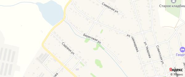 Береговая улица на карте села Еманжелинки с номерами домов