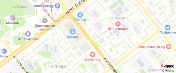 Улица Чичерина на карте Челябинска с номерами домов