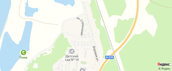 Улица Строителей на карте Нагорного поселка с номерами домов