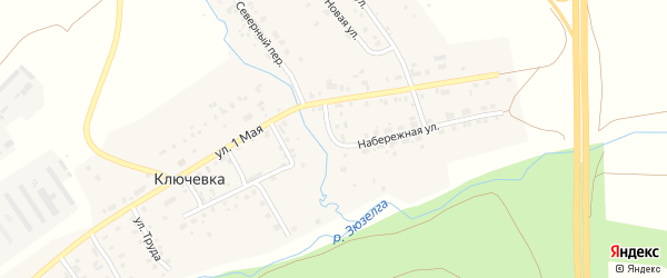 Набережная улица на карте деревни Ключевки с номерами домов