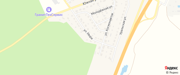 Улица Мира на карте села Еманжелинки с номерами домов