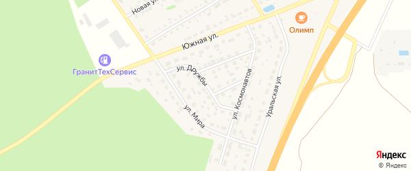 Улица Дружбы на карте села Еманжелинки с номерами домов