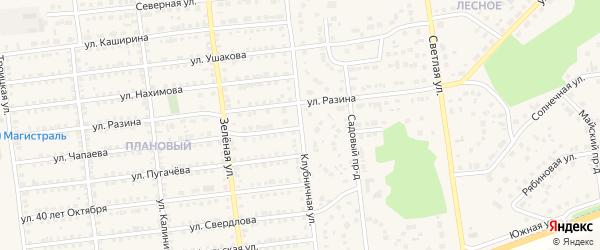 Клубничная улица на карте Южноуральска с номерами домов