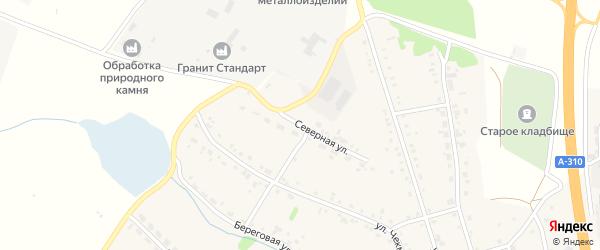 Северная улица на карте села Еманжелинки с номерами домов