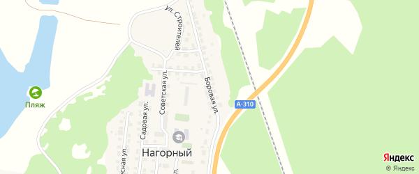 Боровая улица на карте Нагорного поселка с номерами домов
