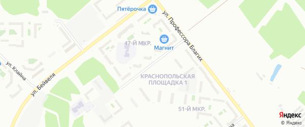 Улица Генерала Мартынова на карте Челябинска с номерами домов