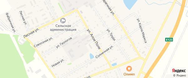 Улица Алое поле на карте села Еманжелинки с номерами домов