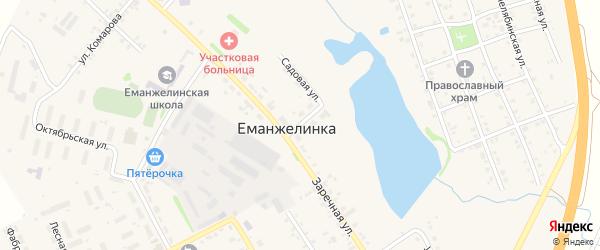Фабричная улица на карте села Еманжелинки с номерами домов