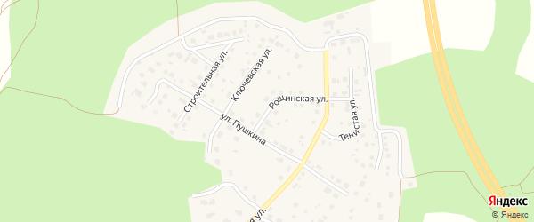 Рощинская улица на карте поселка Рощино с номерами домов