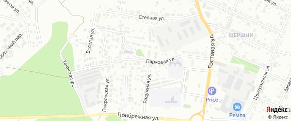 Улица Гидрострой на карте Челябинска с номерами домов