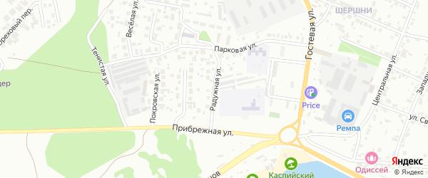 Улица Радужная (Шершни) на карте Челябинска с номерами домов