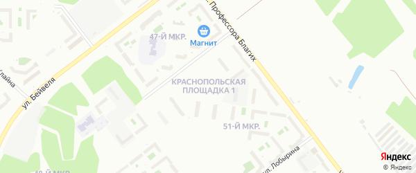 Территория Краснопольская площадка на карте Челябинска с номерами домов
