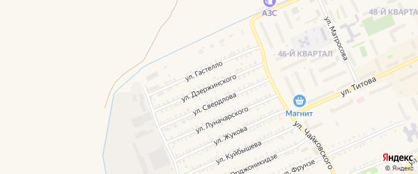Улица Дзержинского на карте Еманжелинска с номерами домов