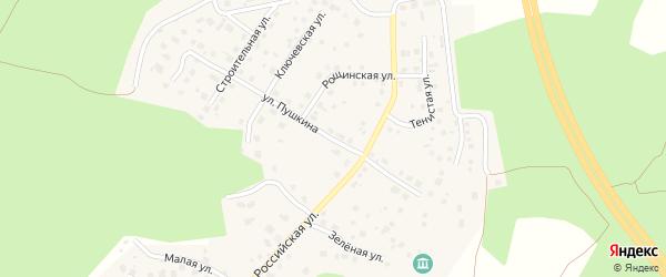 Улица Пушкина на карте поселка Рощино с номерами домов